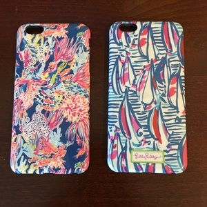 Set of 2 Lilly Pulitzer Phone Cases - 6 or 7 plus